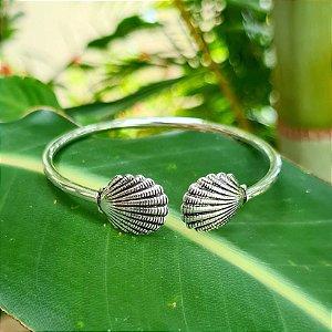Bracelete Concha em Prata 925