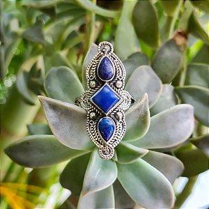 Anel em Prata 925 e Lápis Lazuli