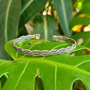 Bracelete Bali Torcido em Prata 925