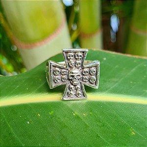 Anel Crucifixo com Caveira em Prata 925