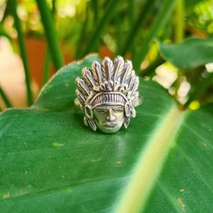 Anel Índio em Prata 925