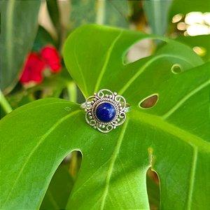 Anel em Prata 925 e Lapis Lazuli