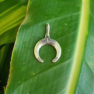Pingente Meia Lua Invertida em Prata 925
