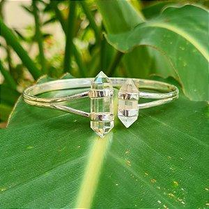 Bracelete em Prata 925 e Cristal de Ponta
