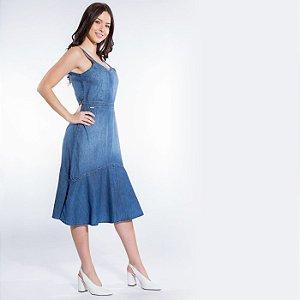 Vestido Jeans Midi Classy