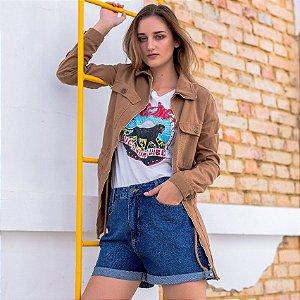 Parka Color Rosa Line jeans Caramelo