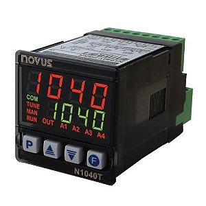 N1040T-PRRR USB Tempo/temperat. Pt100/JKT, 3 relés + pulso