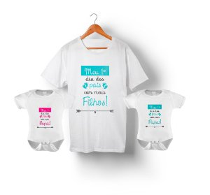 Kit camiseta e body infantil Pai e filho em algodão - Batman ... d8623423838