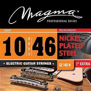 Encordoamento Guitarra Elétrica 0.10 Magma Ge140n Aço