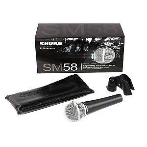Microfone de Mão Dinâmico Shure SM58-LC