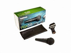 Microfone de Mão Dinâmico Shure PGA58-LC