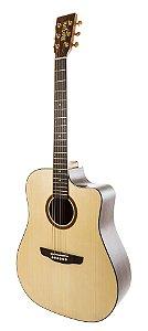 Violão Rozini RX-320 ATN.LP Folk c/ Fishman