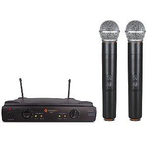 Microfone Sem Fio Duplo Kadosh K-402M