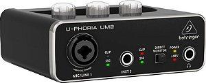 Interface de Áudio USB Behringer U-Phoria Um-2