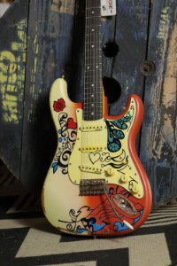 Guitarra Vintage Strato V6 Summer Of Love