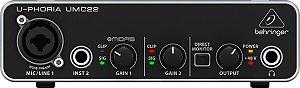 Interface de Áudio USB Behringer UMC22
