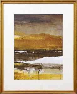 Quadro Abstrato com Moldura dourada