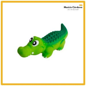 Brinquedo Cachorro Jacaré Crocodilo Pet