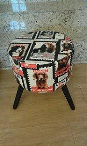 Puff Decorativo Redondo Estampa Pet Love - Girassol