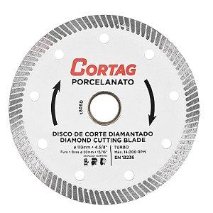 Disco Diamantado Turbo Porcelanato Seco 110mmx20mm - CORTAG