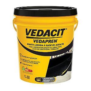 Vedapren Preto Manta Liquida a Base Asfalto 18L - VEDACIT