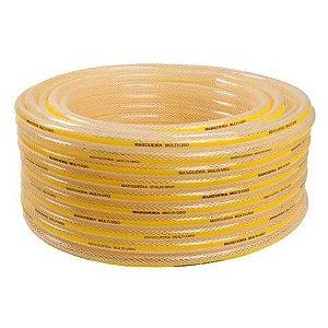 Mangueira Multi Uso Trançada Amarela 3/8 X 2,8 50 Metros - BARIFLEX