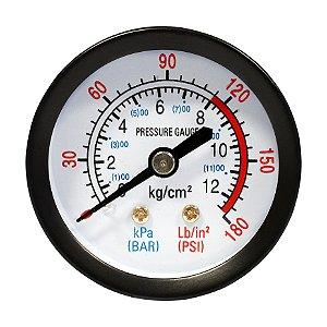 Manômetro 180 LBS 120/180 50MM 1/4 NPT MUPAC - CHIAPERINI