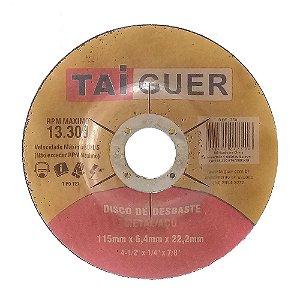 Disco De Desbaste Metais 115X6,4X22mm T27 - TAIGUER