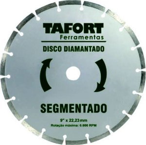 Disco Diamantado Segmentado 9 Pol (230mm x 22,23mm) - TAFORT