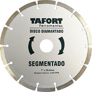Disco Diamantado Segmentado 7 Pol (180mm x 25,4mm) - TAFORT