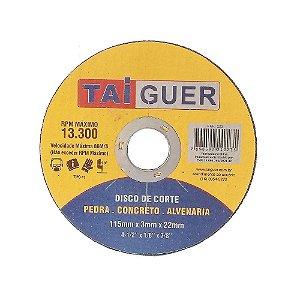 Disco De Corte Para Alvenaria- 115X3X22mm - TAIGUER
