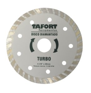 Disco Diamantado Turbo 4.3/8 Pol (110mm x 20mm) - TAFORT