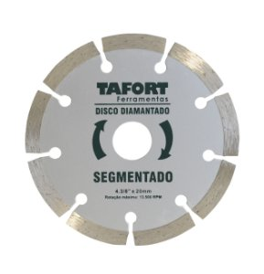 Disco Diamantado Segmentado 4.3/8 Pol (110mm x 20mm) - TAFORT