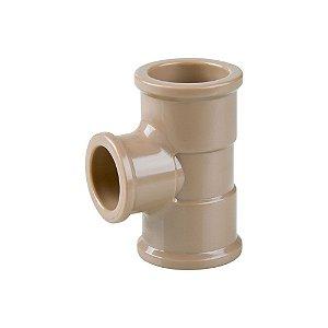 Tê Redução Soldável 50mm X 40mm Pct/06 - PLASTUBOS