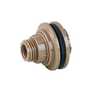 """Adaptador Soldável Para Caixa D'Água 50mm X 1.1/2"""" Pct/5 - PLASTUBOS"""
