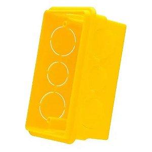 Caixa De Luz Embutir 4X2 Amarela (20Pcs) - ILUMI