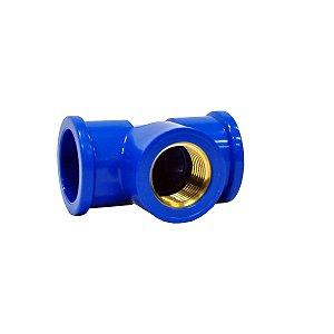 "Tê Azul Com Bucha Latão 20mm X 1/2"" - MULTILIT"