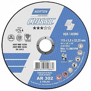 Disco De Corte Classic Ar302 115X3.0X22.23 T41 - NORTON