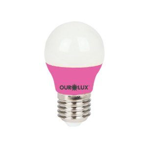 Lâmpada Super Led S30 Colors 3W Bivolt Rosa - OUROLUX