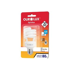 Lâmpada Spiralux 15W 127V 6400K - OUROLUX