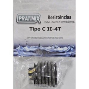Resistência de Chuveiro  Corona Ii 4T 127V 5500W - Tipo Co Ii 4T - PRATIMIX