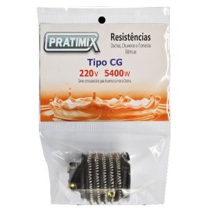 Resistência de Chuveiro  Gorducha 220V 5400W - Tipo Cg - PRATIMIX