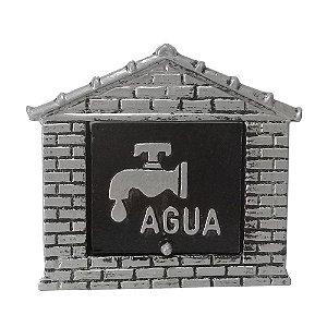 Visor De Muro para Água Tijolinho Prata - 2 IRMÃOS