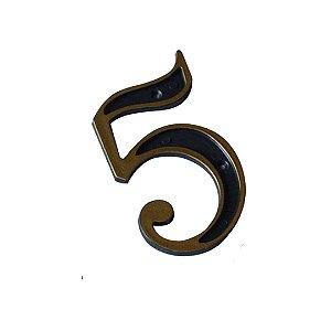 Número Plástico Dourado Para Residência N5 - EMAVE