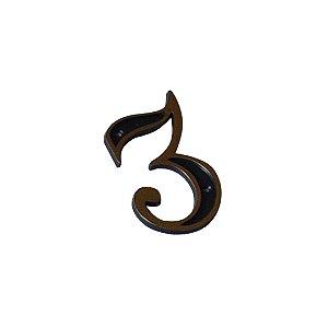Número Plástico Dourado Para Residência N3 - EMAVE