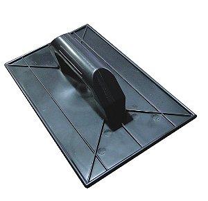 Desempenadeira Plástica Lisa Preta 18X30cm - EMAVE