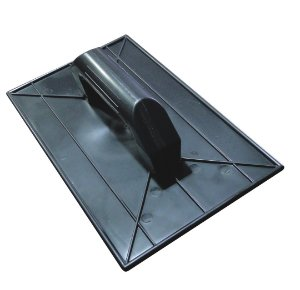 Desempenadeira Plástica Lisa Preta 15X26cm - EMAVE