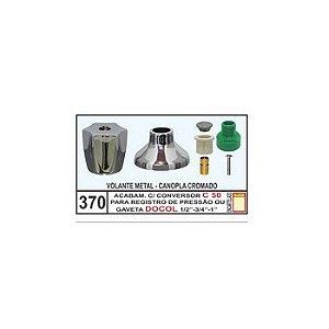 Acabamento Com Conversor C-50 Registro Pressão/Gaveta Docol 1/2-3/4-1 - Mix Plastic
