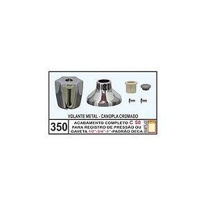 Acabamento Completo C-50 Registro Pressão/Gaveta 1/2 - 3/4 - 1 - Mix Plastic