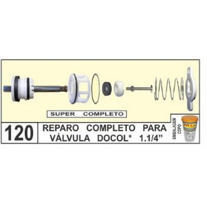 Reparo Completo Para Válvula Docol 1.1/4 - Mix Plastic